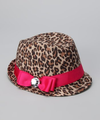 Hot Pink Cheetah Fedora