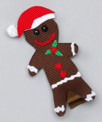 Brown Happy Gingerbread Clip
