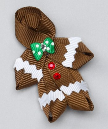 Brown Gingerbread Clip