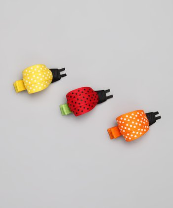 Red, Orange & Yellow Ladybug Clip Set