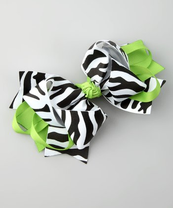 Lime Zebra Sweetie Pie Clip