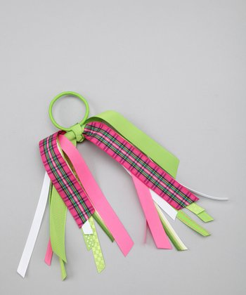 Lime & Pink Streamer Hair Tie