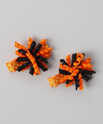 Orange & Black Korker Clip Set