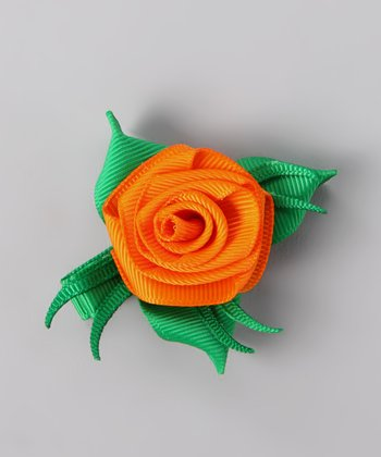 Orange Rose Clip