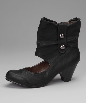 Black Cutout Boot