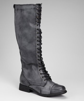 Gray Riding Boot