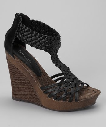 Black Alamea Wedge Sandal