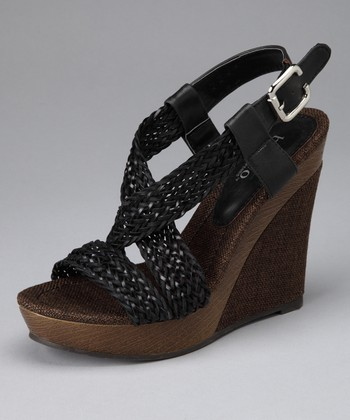 Black Ariel Wedge Sandal