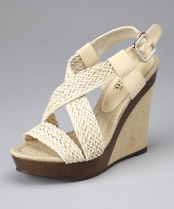 Natural Ariel Wedge Sandal