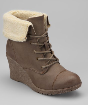 Taupe Jorita Wedge Boot