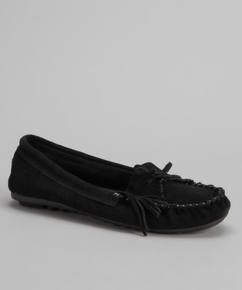 Black Mabel Suede Moccasin