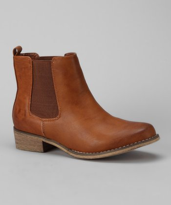 Cognac Maya Ankle Boot