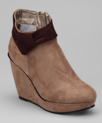 Taupe Nyx Wedge Bootie