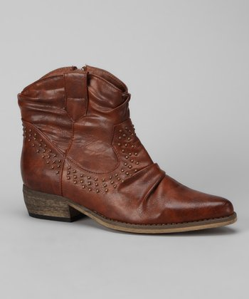 Cognac Verbane Ankle Boot