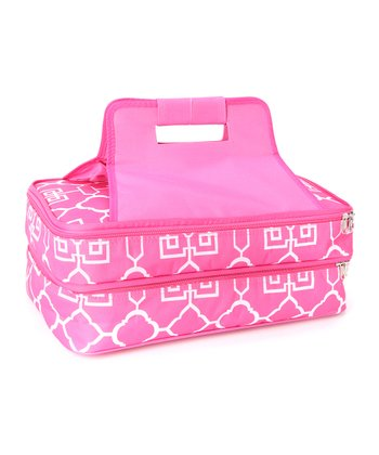 Pink Lattice Casserole Carrier