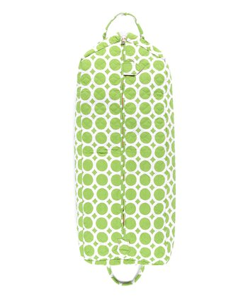 Green Lots O' Dots Quilted Garment Bag
