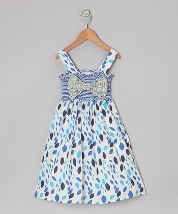 Blue Bow Dress - Toddler & Girls