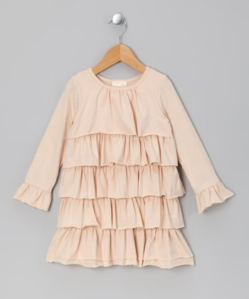 Ivory Cascade Ruffle Dress - Toddler