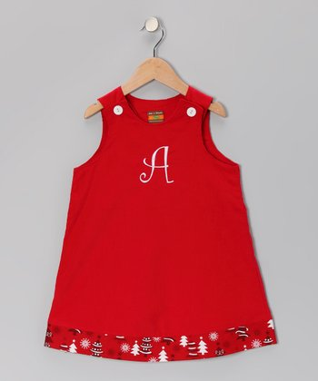 Red Corduroy Initial Jumper - Infant & Toddler