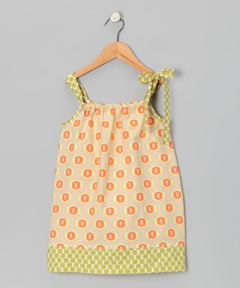 Honeycomb Dahlia Tie Dress - Infant