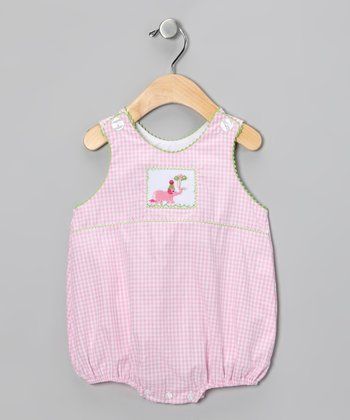 Bulldogs & Bows Pink Birthday Elephant Bubble Bodysuit - Infant