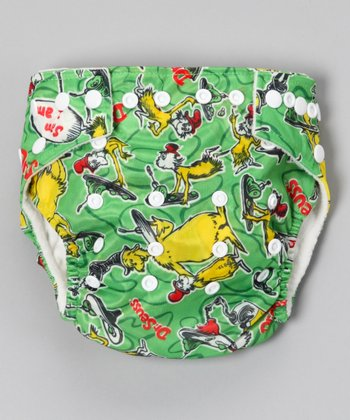 Green Eggs All-in-One Snap Diaper
