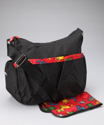Red & Black Deluxe Diaper Bag