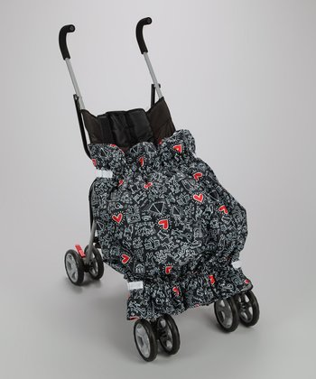 Keith Haring Graffiti Heart Stroller Blanket