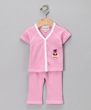 Pink Maya Monster Organic Top & Pants - Infant & Toddler