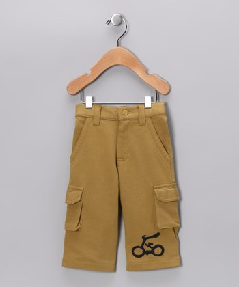 Olive & Navy Bicycle Cargo Pants - Infant & Toddler