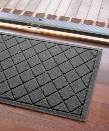 Charcoal Argyle Aqua Shield Doormat