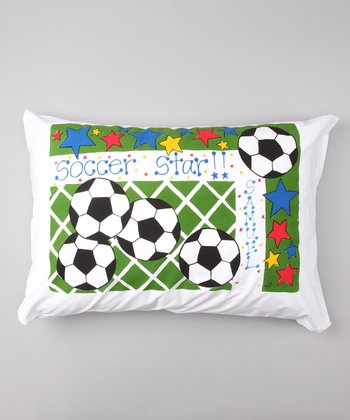 'Soccer Star' Personalized Standard Pillowcase