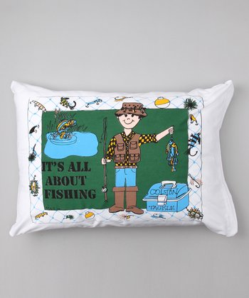 'It's All About Fishing' Personalized Standard Pillowcase