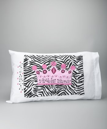 Birthday Princess Crown Personalized Standard Pillowcase