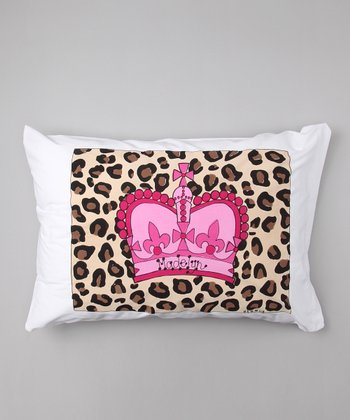 Cheetah Crown Personalized Standard Pillowcase
