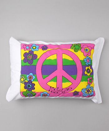 Peace Sign Personalized Standard Pillowcase