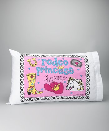 Bunnies & Bows Rodeo Princess Personalized Standard Pillowcase