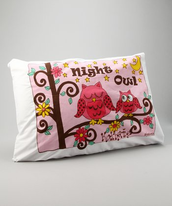 'Night Owl' Personalized Standard Pillowcase