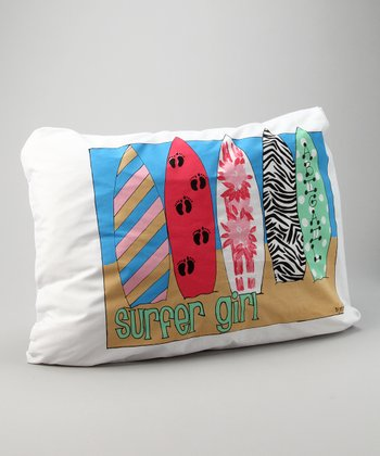 'Surfer Girl' Personalized Standard Pillowcase