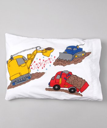 Trucks Personalized Toddler Pillow