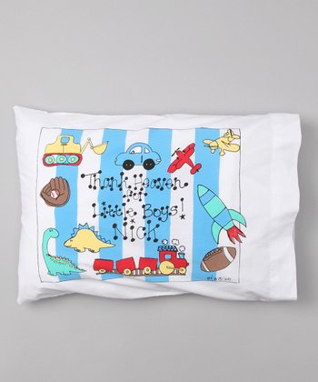 'Little Boys' Personalized Toddler Pillow