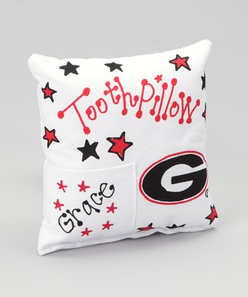 University of Georgia Personalized Tooth Pillow