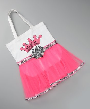 Hot Pink Zebra Personalized Tutu Tote