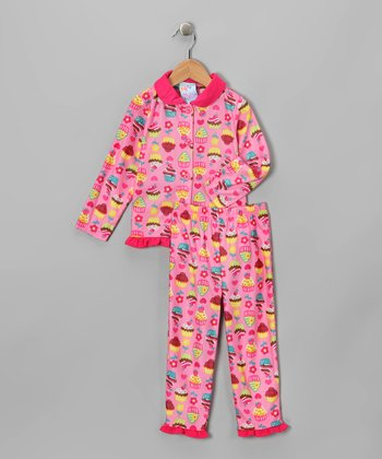 Fuchsia Cupcake Pajama Set - Infant, Toddler & Girls