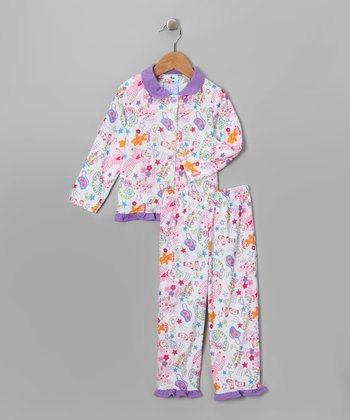 Lilac Party Pajama Set - Infant, Toddler & Girls