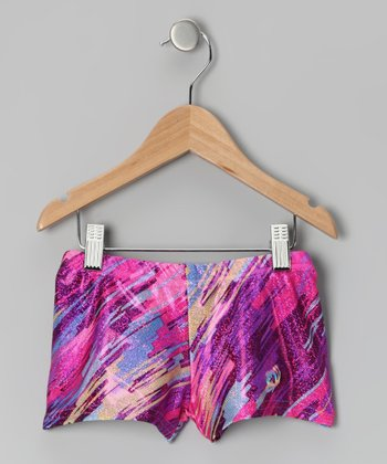 Violet Quartz Foil Shorts - Girls
