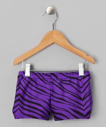 Purple Zebra Shorts - Toddler & Girls