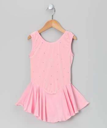 Pink Velvet Ice Skating Dress