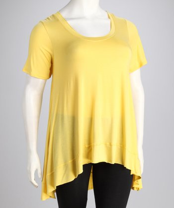 Lemon Alie Plus-Size Hi-Low Top