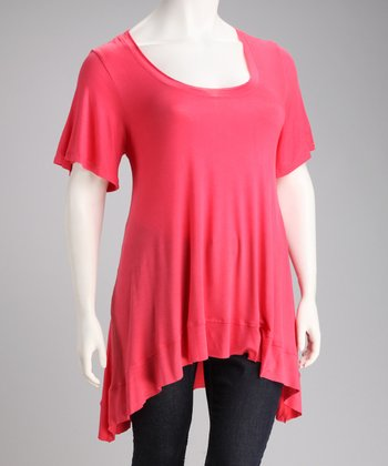 Coral Desere Sidetail Top - Plus
